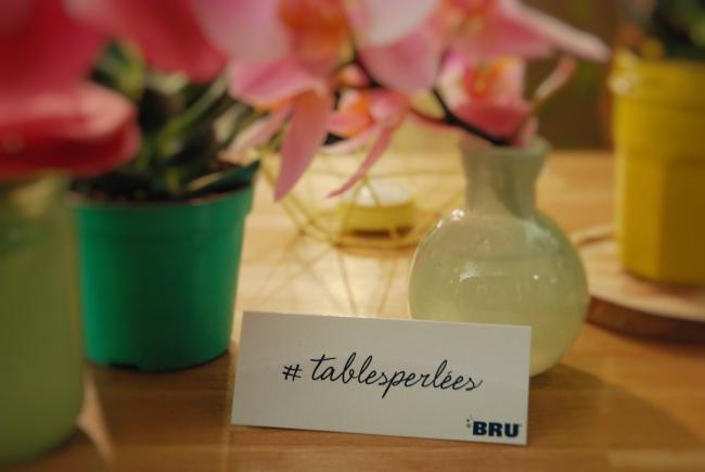 Tables Perlées Bru - Pépites d'amour