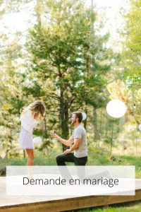 Prestations - Demande en mariage